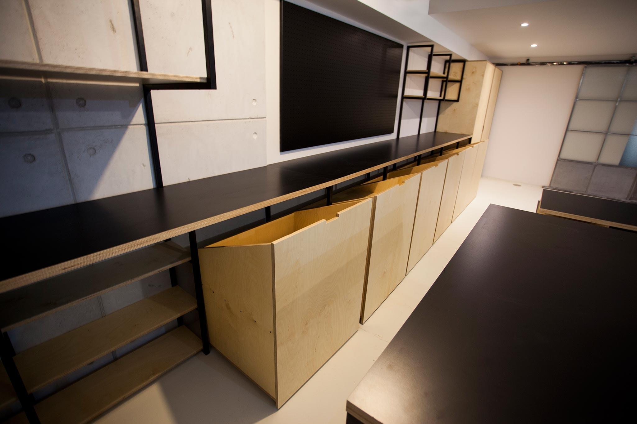 proyecto 'el sótano' mobiliario a medida